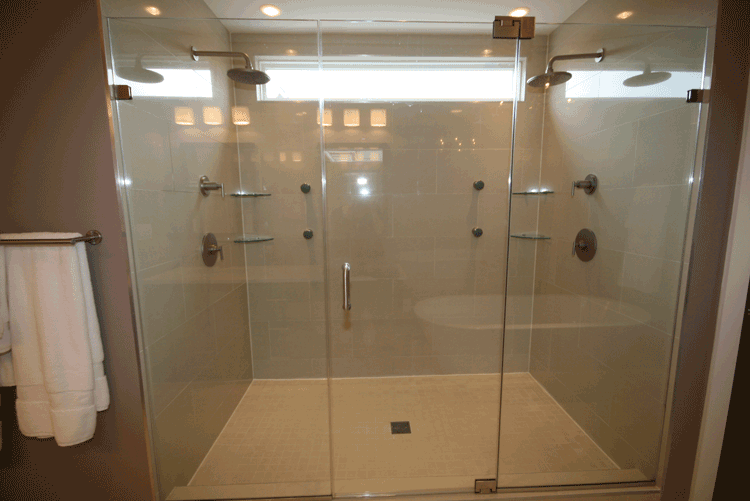New His and Hers Shower Stall - A-Pro Renovation | Aprorenovation ...
